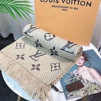 Louis Vuitton LV Women's Embroidered Logo Long Shawl Scarf