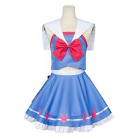 2017 New overwatches  D.VA Hana Song Sailor Suit Uniform Cosplay Costume Outfit Dress Gown