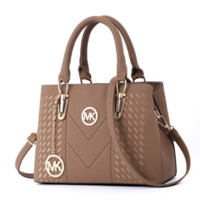 Michael Kors MK Fashion New Leather Shopping Handbag Shoulder Bag Women Khaki