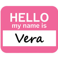 Vera Hello My Name Is Mouse Pad