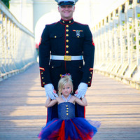 The Marine Brat- United States Marine Inspired Tutu Dress perfect for coming home celebrations