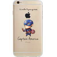 """Captain America Jelly Clear Case for Apple iPhone 6/6s PLUS (5.5"""")"""