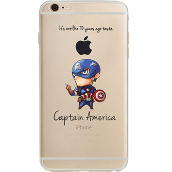 Captain America Jelly Clear Case for Apple iPhone 7 PLUS