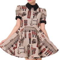 Glitters For Dinner — Made To Order - Miss London Tapestry Dress