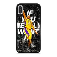 LA LAKERS KOBE BRYANT iPhone X / XS case