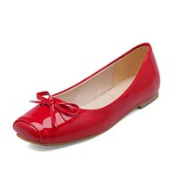 Women Flats Girl Casual Loafers Shoes Square Toe Bow Ballet Shoes