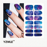 YZWLE 1 Sheet 10.5cm x 6cm DIY Decals Nails Art Water Transfer Printing Stickers Accessories For Manicure Salon (YSD078)