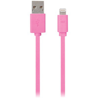 IESSENTIALS IPLH5-FDC-PK Flat Lightning(TM) Cable, 3.3ft (Pink)