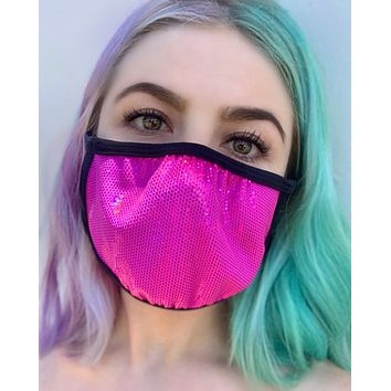 Fuchsia Fury Velvet Surgical Face Mask