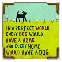 Corner Magnet Perfect World Dog by Natural Life