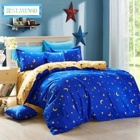 BEST.WENSD wholesal Polyester Stars bed linen Home textile,3/4 Pc bedding Duvet Cover sets bed comforter  princess bedding set