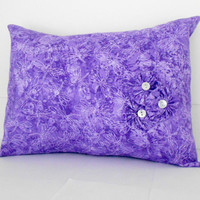 Purple Pillow Cover dragon fly floral nursery girls 12 X 16