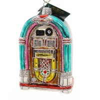 Old World Christmas JIVIN' JUKEBOX Glass Ornament Rock And Roll 38046
