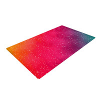 """Fotios Pavlopoulos """"Colorful Constellation"""" Pink Glam Woven Area Rug"""