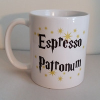 "Harry Potter ""Espresso Patronum"" Magical Coffee Mug"