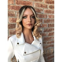 """Ombré Blonde Full Lace Wig 12"""""""