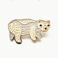Polar Bear Pin - Enamel Pin by boygirlparty