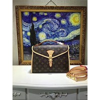 LV Louis Vuitton WOMEN'S MONOGRAM LEATHER KELLY HANDBAG SHOULDER BAG