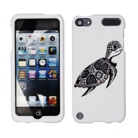 Fincibo (TM) Premium Hard Plastic Snap On Protector Cover Case For Apple iPod Touch 5 (5th Generation) iPod Touch 6 (6th Generation), Cute Turtle