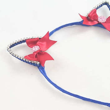 Sailor Moon, Cat ears, Magical Girl, Cat ear headband, Anime, Cosplay, Cat ears headband, Halloween, Anime cat ears, blue cat ears headband