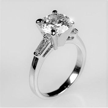 Cheryl  Round Solitaire Engagement Ring | 3ct