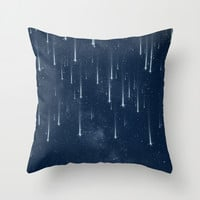 Wishing Stars Throw Pillow by Paula Belle Flores