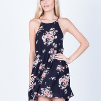 Pretty Floral Printed Dress
