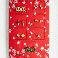 Theme and Shout Necklace and Earring Set in Holiday by ModCloth