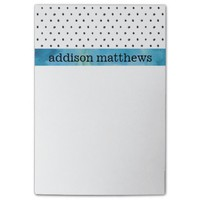 Black and White Polka Dots Blue Watercolor Post-it® Notes