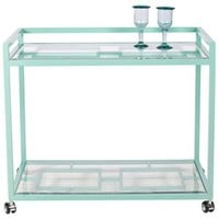 Caneel Bay Bar Cart - Turquoise