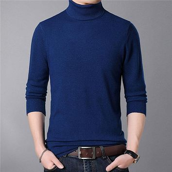 Mens Sweaters Autumn Winter Thick Warm Cashmere Wool Sweater Men Turtleneck Pullover Men Slim Fit Jumper Pull