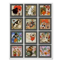 Mother Goose Nursery Rhyme Art Collage Poster