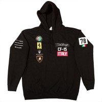 ONETOW Club Foreign Italy Series Hoodie 'Black'