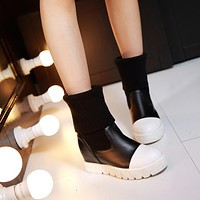 Wool Wedges Boots Women Shoes Fall|Winter 11191501