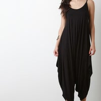 Solid Loose Baggy Jumpsuit