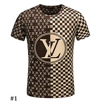 LV Louis Vuitton 2018 summer new black and white checkerboard print T-shirt F-A00FS-GJ #1