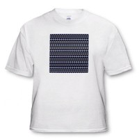 Blue Sky Tribal Geometric Abstract Pattern Textile - White Infant Lap-Shoulder Tee (24M)