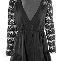 Long Sleeve Cut-Out Romper