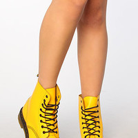 Dr. Martens The Smiley 8Eye Boot in Yellow