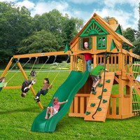 Gorilla Playsets Chateau Clubhouse Treehouse Wooden Swing Set