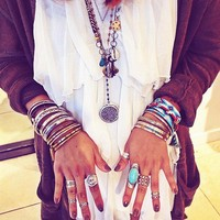 Double Layer Rosary style pic by FPKaitlyn at Free People