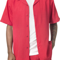 Two Piece Solid Color Short Sleeve Walking Suit 1740 By Montique