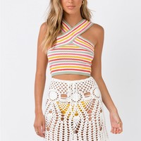 Cuco Crochet Mini Skirt | Princess Polly
