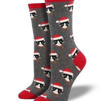 Santa Cat Christmas Socks