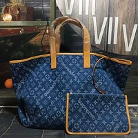 LV Louis Vuitton Women Leather Shoulder Bags Satchel Tote Bag Handbag Shopping Leather Tote Crossbody Satchel Shouder Bag