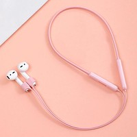 Baseus Pink Magnetic Silicone Earphone Strap For Airpods 1 2 Neckband Anti Lost Strap Rope For Air Pods Cable Wire Holder Accessories FREE SHIPPING