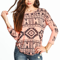SOUTHWESTERN KNIT TOP