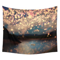 Dreamy Naturescape Printed Hanging Wall Tapestry 153*130cm