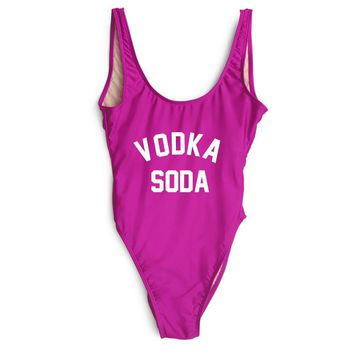 Vodka Soda One Piece Swimsuit