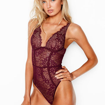 Embellished Lace Plunge Teddy - Very Sexy - Victoria's Secret